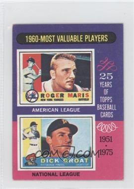 1975 Topps Minis #198 - Roger Maris, Dick Groat