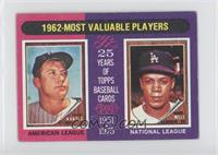 Mickey Mantle, Maury Wills [Good to VG‑EX]