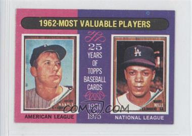1975 Topps Minis #200 - Mickey Mantle, Maury Wills