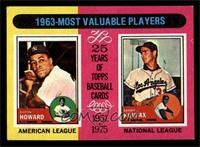 Sandy Koufax, Elston Howard [EX MT]
