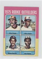 1975 Rookie Outfielders (Dave Augustine, Pepe Mangual, Jim Rice, John Scott)