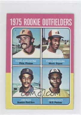 1975 Topps Minis #616 - 1975 Rookie Outfielders (Dave Augustine, Pepe Mangual, Jim Rice, John Scott)