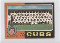 Chicago Cubs Team Checklist (Jim Marshall) [Good to VG‑EX]