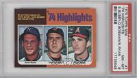 '74 Highlights (Steve Busby, Dick Bosman, Nolan Ryan) [PSA 8]