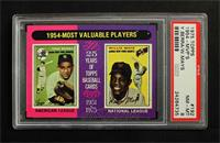 1954-Most Valuable Players (Yogi Berra, Willie Mays) [PSA 8]