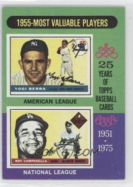 1975 Topps #193 - 1955 Most Valuable Players (Yogi Berra, Roy Campanella)