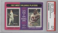 1957 Most Valuable Players (Mickey Mantle, Hank Aaron) [PSA7]