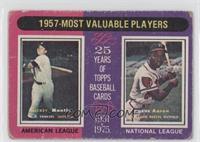 1957 Most Valuable Players (Mickey Mantle, Hank Aaron) [PoortoFair]