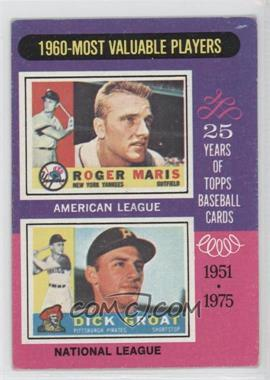 1975 Topps #198 - 1960-Most Valuable Players (Roger Maris, Dick Groat) [Good to VG‑EX]