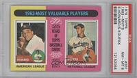 Sandy Koufax, Elston Howard [PSA 8]