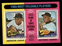 1965-Most Valuable Players (Zoilo Versalles, Willie Mays) [NM MT]
