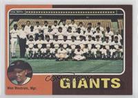 San Francisco Giants Team Checklist (Wes Westrum, Mgr.)