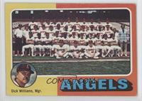 California Angels Team Checklist (Dick Williams) [GoodtoVG‑EX]