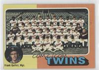 Minnesota Twins Team Checklist (Frank Quilici)