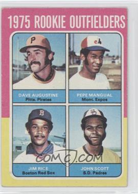 1975 Topps #616 - Dave Augustine, Pepe Mangual, Jim Rice, John Scott