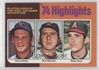 Steve Busby, Dick Bosman, Nolan Ryan