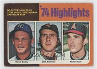 Steve Busby, Dick Bosman, Nolan Ryan [Poor to Fair]
