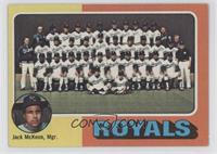 Kansas City Royals Team Checklist (Jack McKeon, Mgr.)