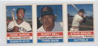 Hank Aaron, Buddy Bell, Steve Braun