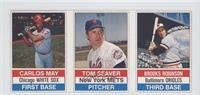Carlos May, Tom Seaver, Brooks Robinson