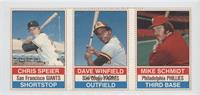 Chris Speier, Dave Winfield, Mike Schmidt