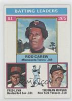 Rod Carew, Fred Lynn, Thurman Munson