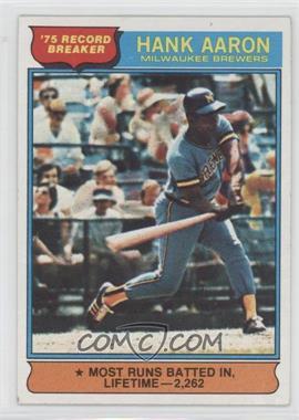 1976 Topps #1 - Hank Aaron