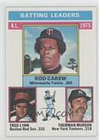 Rod Carew, Fred Lynn, Thurman Munson
