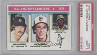 1975 AL Victory Leaders (Jim Hunter, Jim Palmer, Vida Blue) [PSA9]