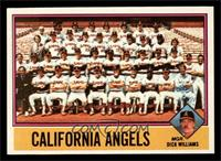 California Angels Team Checklist (Dick Williams) [NM MT]