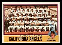 California Angels Team Checklist (Dick Williams) [NMMT]