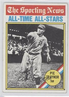1976 Topps #343 - Pie Traynor [GoodtoVG‑EX]