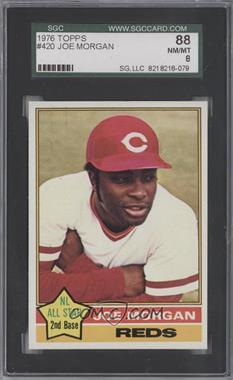 1976 Topps #420 - Joe Morgan [SGC 88]
