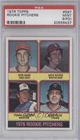 Rookie Pitchers (Don Aase, Jack Kucek, Frank LaCorte, Mike Pazik) [PSA 9&n…