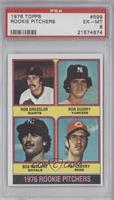 1976 Rookie Pitchers (Rob Dressler, Ron Guidry, Bob McClure, Pat Zachry) [PSA&n…