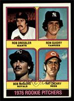 1976 Rookie Pitchers (Rob Dressler, Ron Guidry, Bob McClure, Pat Zachry) [EX]