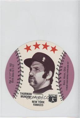 1977 Chilly Willee Frozen Drinks Discs #N/A - Thurman Munson