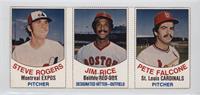 Steve Rogers, Jim Rice, Pete Falcone
