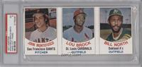 John Montefusco, Lou Brock, Bill North [PSA 5]