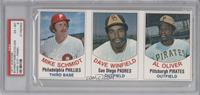 Mike Schmidt, Dave Winfield, Al Oliver [PSA6]