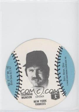 1977 MSA Discs - [Base] - Burger Chef #THMU - Thurman Munson