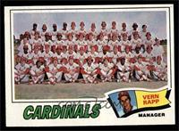 St. Louis Cardinals Team Checklist (Vern Rapp) [NM]