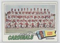 St. Louis Cardinals Team Checklist (Vern Rapp) [GoodtoVG‑EX]