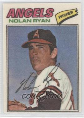1977 Topps Baseball Patches Cloth Stickers #40 - Nolan Ryan