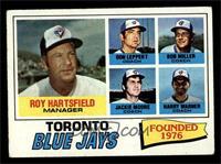 Toronto Blue Jays Coaches Team Checklist (Roy Hartsfield, Don Leppert, Bob Mill…