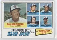 Toronto Blue Jays Coaches Team Checklist (Roy Hartsfield, Don Leppert, Bob Mill…