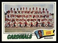 St. Louis Cardinals Team Checklist (Vern Rapp) [NMMT]