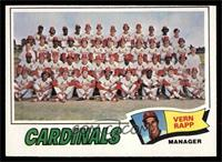 St. Louis Cardinals Team Checklist (Vern Rapp) [EX]