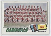 St. Louis Cardinals Team Checklist (Vern Rapp) [Good to VG‑EX]