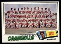 St. Louis Cardinals Team Checklist (Vern Rapp) [EX MT]